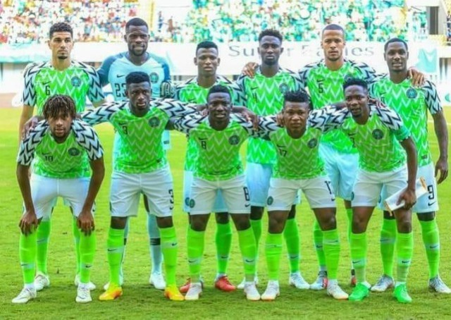 Nigeria's Super Eagles...before a flight...