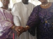 L-R: Mrs Abiodun Arapaja, the celebrant and Yeye Abosede Adedibu...at the event...