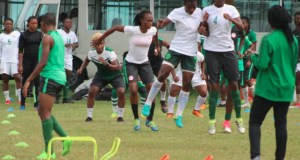 Super Falcons...in their Epe, Lagos State camp...