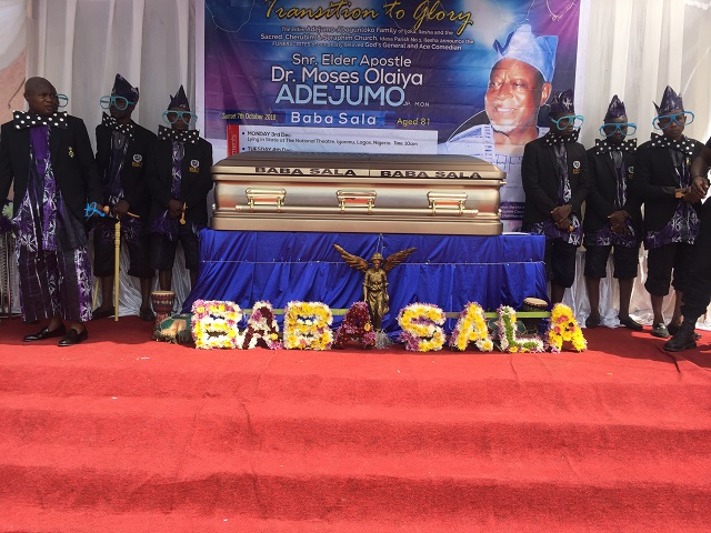 The splendid arrangement for the lying-in-state of Snr Elder (Apostle) Dr Moses Olaiya Adejumo, MON...in Ibadan on Wednesday...