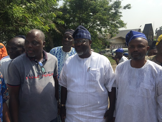 L-R: TAMPAN boss, Chief Dele Odule, Oyo's Commissioner for Information, Culture and Tourism, Mr Toye Arulogun and the Permanent Secretary in the ministry...