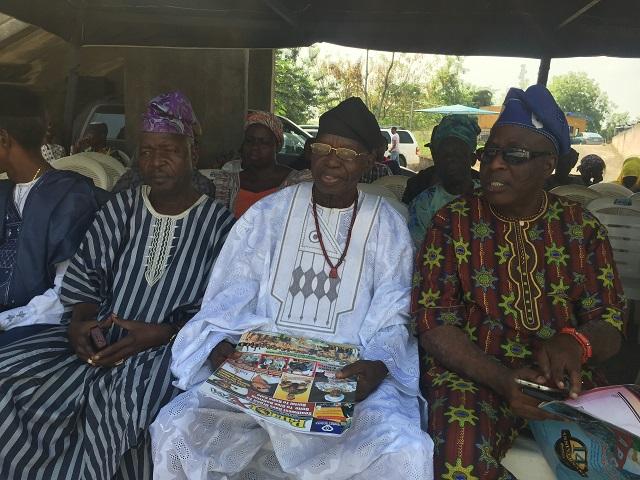L-R: Chiefs Toyosi Arigbabuwo, Lere Paimo and 'Jinadu Ewele'...