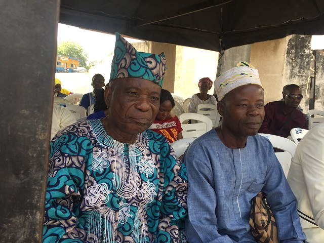 Veteran Broadcaster, Chief Yemi Ogunyemi, left, with another guest...