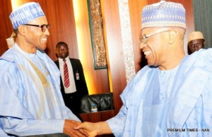 President Muhammadu Buhari, left, with General Ibrahim Babangida...