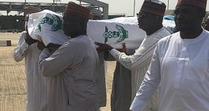 ...the remains of ex-President Shehu Shagari being taken on the last trip...