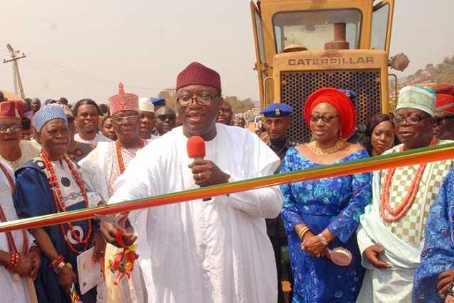 Dr Kayode Fayemi...during the flagging-off ceremony...