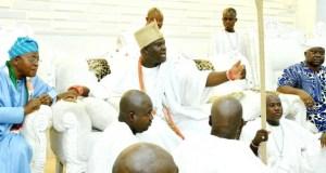 Governor State of Osun, Mr. Gboyega Oyetola, the Ooni of Ife, Oba Adeyeye Ogunwusi Enitan and Senator Iyiola Omisore, during the visit…