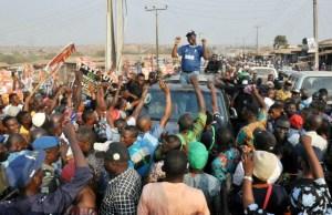 ...PDP's Seyi Makinde at Ona Ara LGA...