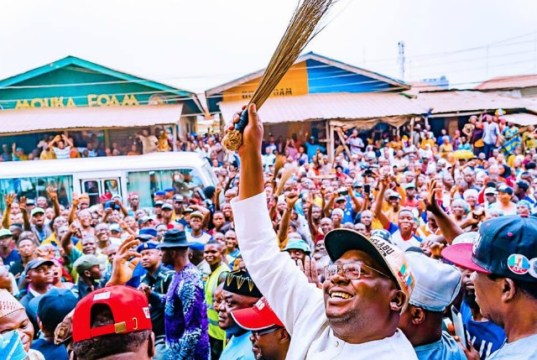 ...Chief Adebayo Adelabu...the gubernatorial candidate of APC in Oyo State...