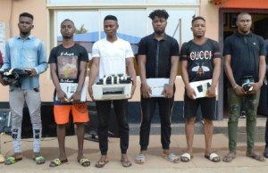 ...the suspects...arrested by EFCC in Ibadan...
