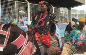 ...warrior ancestor of a big family in Ibadanland here represented at the grand finale of Ibadan Cultural Week...