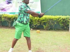Col. Ade Sunmonu...the new Captain of Ibadan Golf Club...