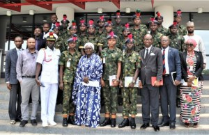 Officials of NDA and EFCC...during the visit...