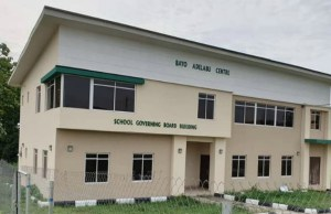 ...the new Bayo Adelabu School Governing Board building...