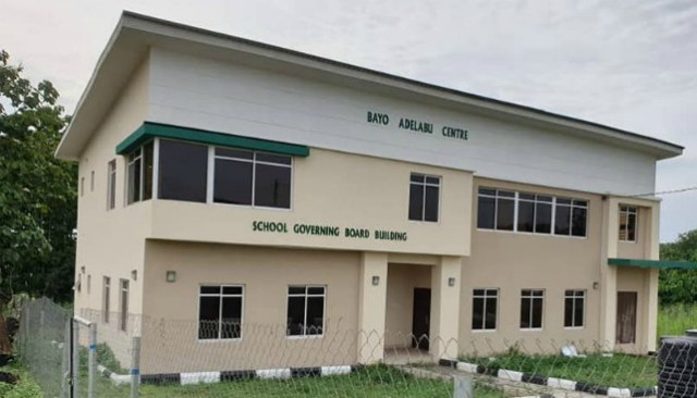...the new Bayo Adelabu School Governing Board building...