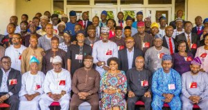 Governor Kayode Fayemi of Ekiti State with his appointees at the retreat...