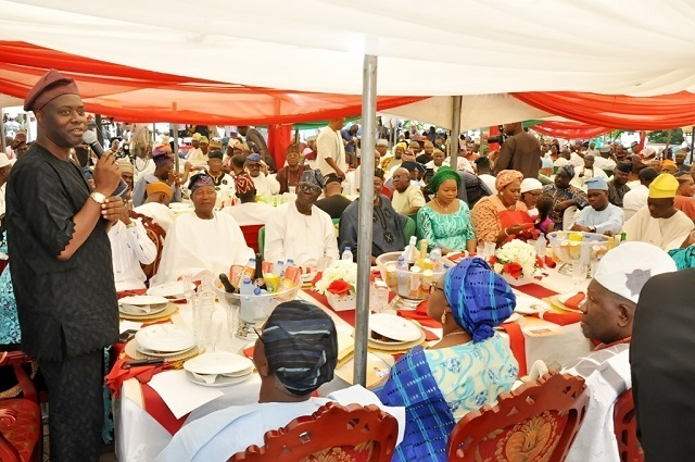 Oyo State governor, Sir Seyi Makinde addressing Muslims...at the event...