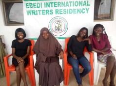 L-R: Damilola Omotoyinbo (Nigeria),Rabiat Muhammed Oyindamola (Nigeria), Bintou Sanneh (The Gambia) and Josephine Odura Attafuah (Ghana)...in Iseyin...