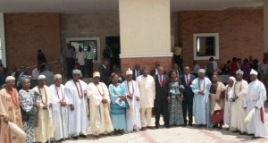 Governor Kayode Fayemi, the Governor of Ekiti State with the Chief Judge of Ekiti State, Justice Ayodeji Daramola and some traditional rulers…after the event…
