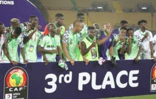 ...Nigeria's Super Eagles after flying over Tunisia...on Wednesday in Egypt...