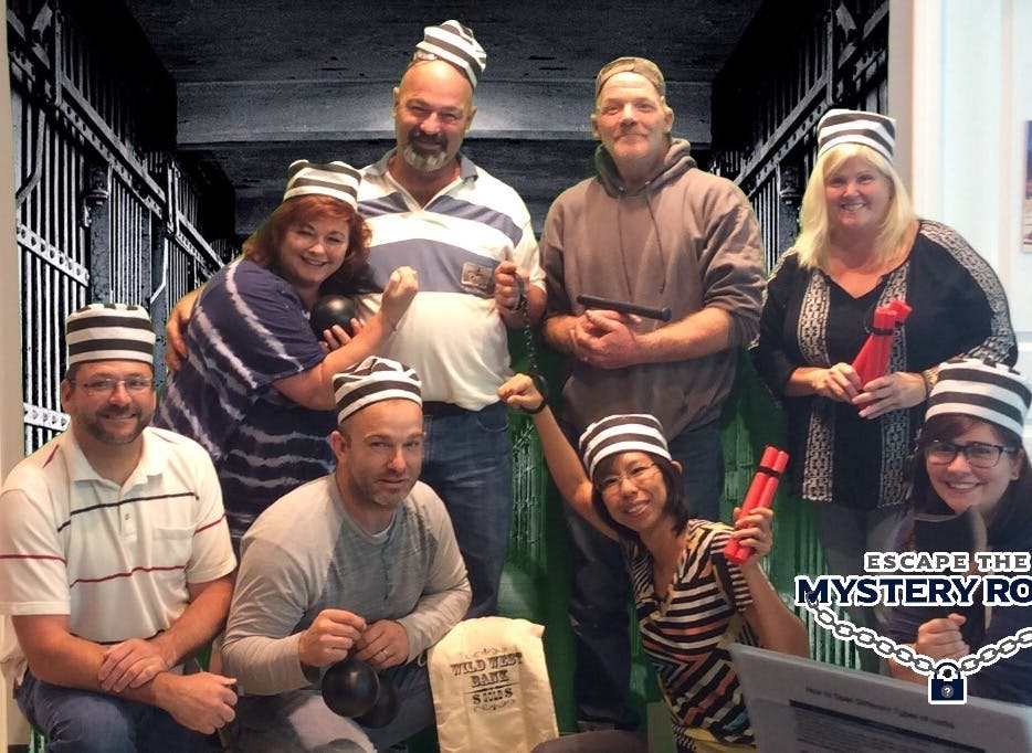 Peace of Mind Team Building Event Escape from Alcatraz Escape Room 2017