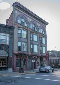 """Main St. in Woonsocket, """"Who Owns the Block"""" feature. 321-325 Main St.  Property owner: Arruda Enterprises LLC Tenant: American Contracting Specialists; Louis Michael Coins & Jewelry. PBN PHOTO/MICHAEL SALERNO"""