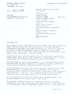 501c3 revised determination letter page 1