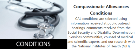 Siocial Security Compassionate Allowance