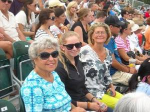Tery and her family enjoying 5 years cancer free at the horse show in the Hamptons