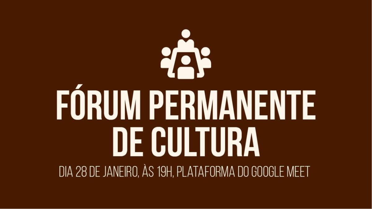 Cultura convoca para primeira reunião do Fórum Permanente do setor