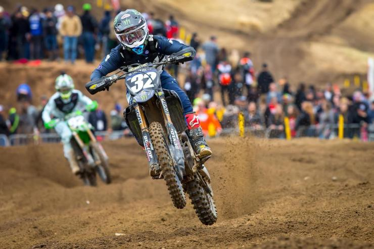 Cooper's win in the first moto helped place him in the runner-up spot in the overall classification.