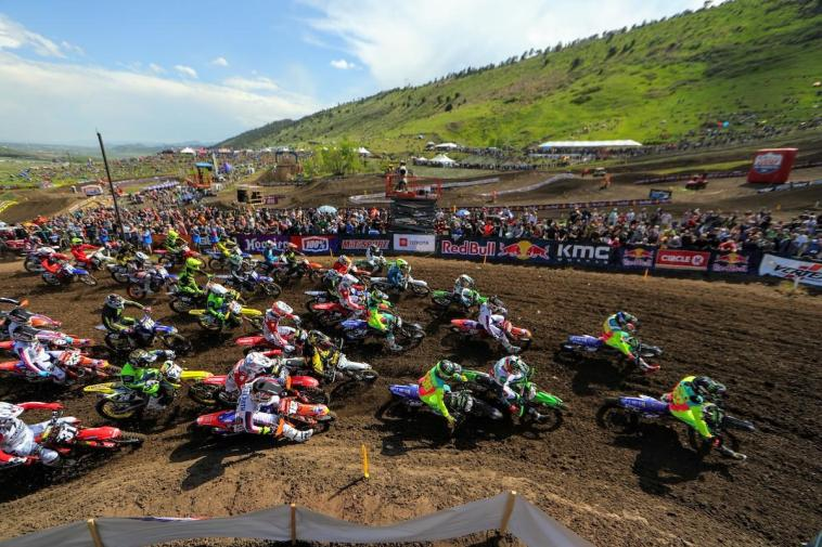 A tremendous crowd was on hand to welcome the Lucas Oil Pro Motocross Championship back to Thunder Valley.