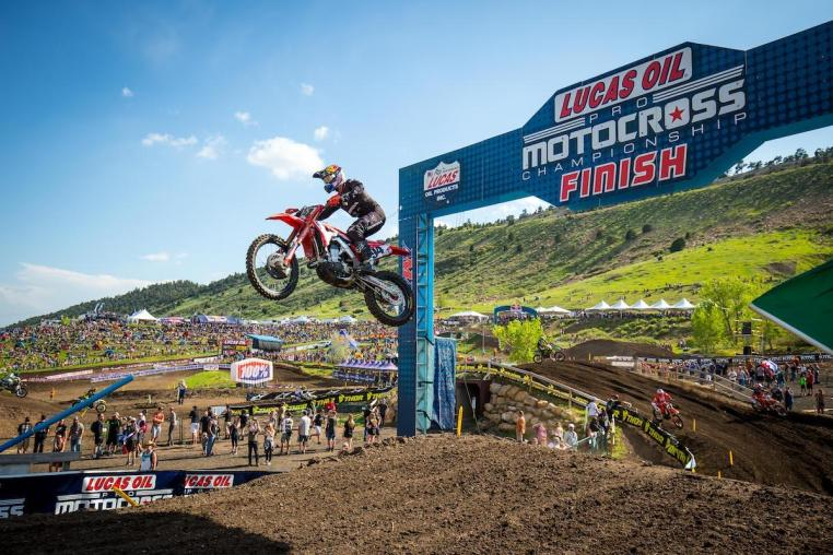 Roczen's 1-2 moto results carried him to his second win of 2019.