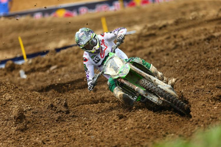 Tomac made a late race charge to claim his second victory of the season (3-2).