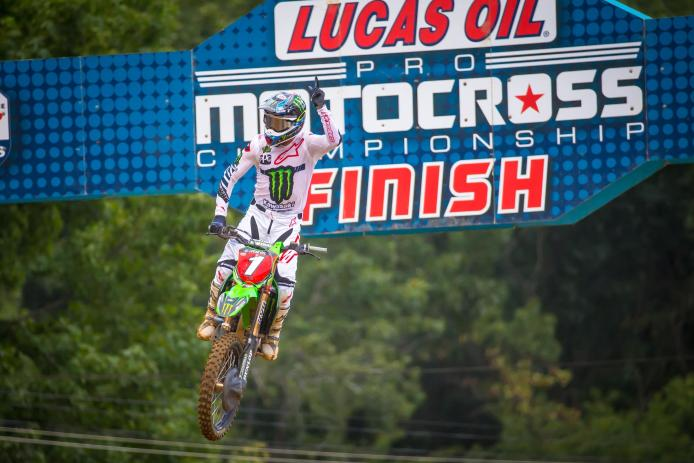 Tomac became just the fourth rider in history to achieve the championship three-peat.