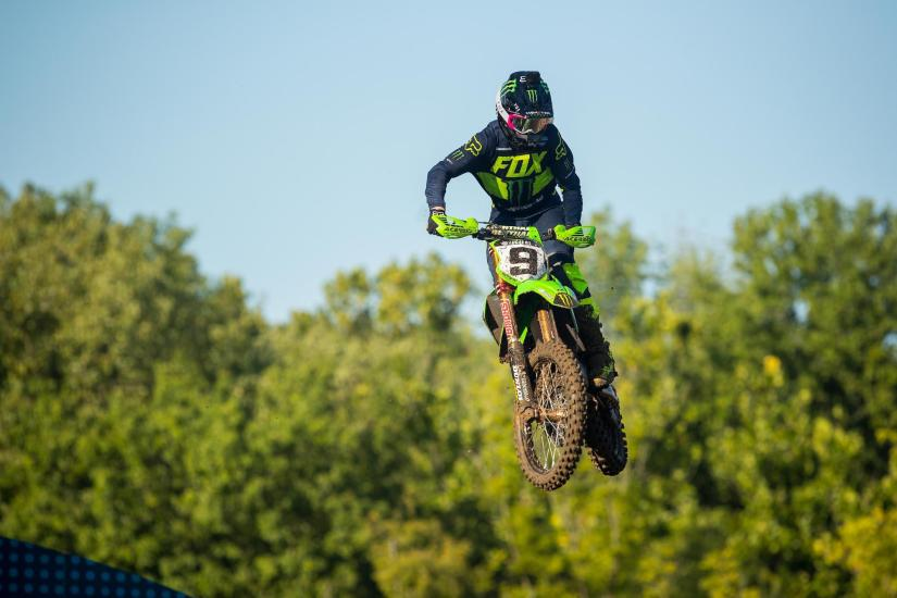 Adam Cianciarulo earned his second straight podium result in third.