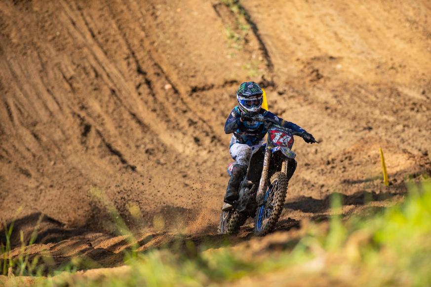 Dylan Ferrandis rebounded from a last-place start in Moto 2 to still finish second overall.