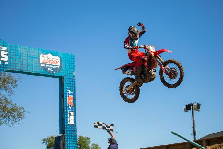 Jeremy Martin raced to his third straight 250 Class victory.