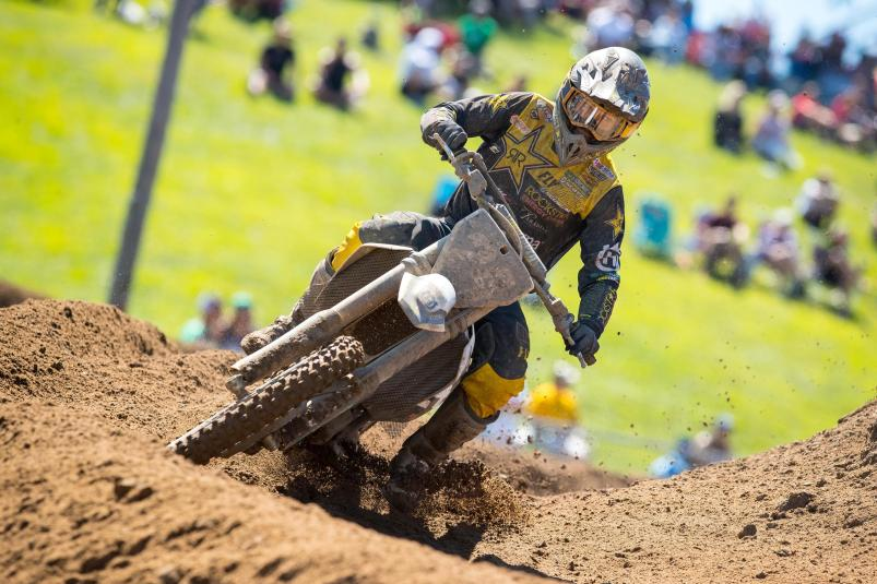 RJ Hampshire's 5-2 moto scores were good enough to secure second overall.