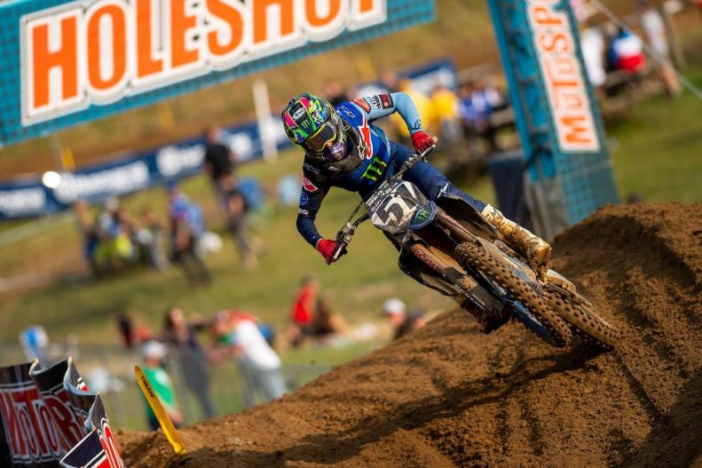 Justin Barcia charged hard both motos to complete the podium in third (5-4).