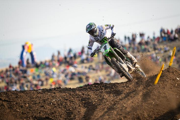 Eli Tomac raced to his second win in three years at his home race.