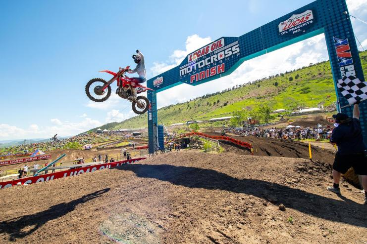 Ken Roczen made his return to the top step of the podium.