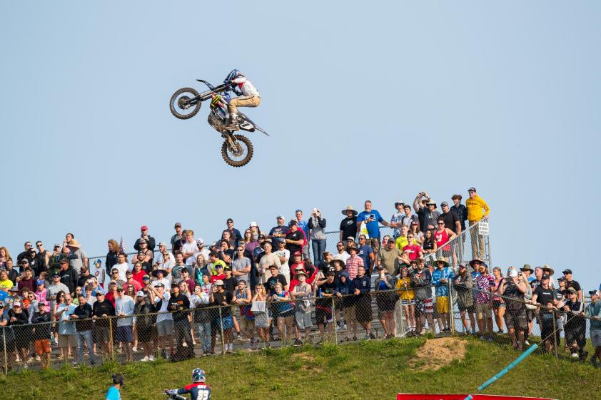 Aaron Plessinger stretching it out over the famous Larocco's Leap en route to third overall (3-3).