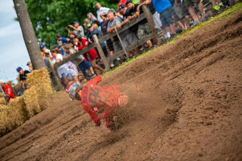 Ken Roczen led the majority of Moto 2 and finished second overall (4-2).