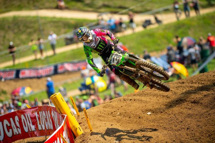 Eli Tomac earned his second runner-up finish of the season.
