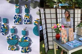Suzanne Blignaut from Suzy Hello Studio shows step-by-step how to make handmade polymer earrings.