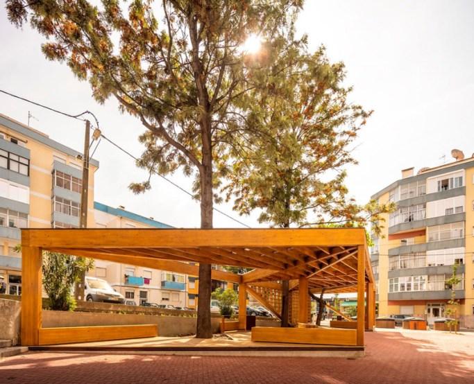 Praça Pública da Quinta do Brasileiro - Filigrana de Madeira - Menção Honrosa PNAM'21