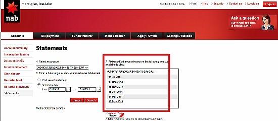 5步獲得Bank Statements全攻略!! (NAB)   P&C 澳洲專業退稅