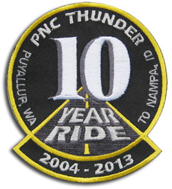 "10th Annual Nampa ""Iron Butt"" Ride Patch"