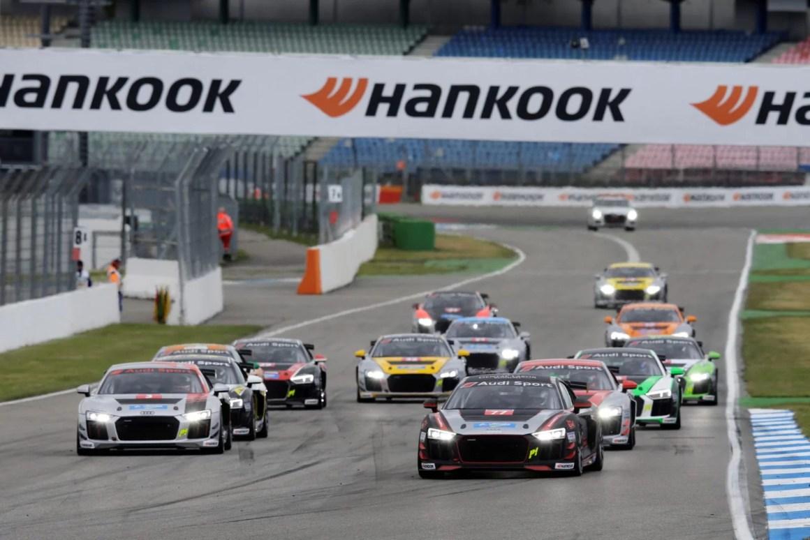 Start Race 2, Robin Rogalski, Rahel Frey, Audi Sport Seyffarth R8 LMS Cup, Hockenheim 1, 03.-05. May 2019